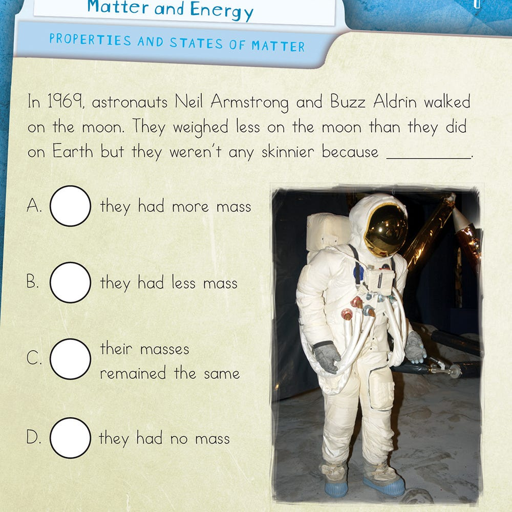 matter and energy quiz cards