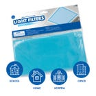 Square Fluorescent Light Filters (Tranquil Blue)