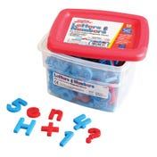 AlphaMagnets® & MathMagnets® Color-Coded, 214 Pieces