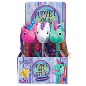 "Rainbow Prancers Puppet-on-a-Stick—White ""Twinkle,"" Party Pack of 6"