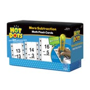 Hot Dots® Flash Cards, More Subtraction Facts 13-19