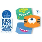 Kids' Face Masks 3-Pack Dinosaur, Tiger, Shark Set